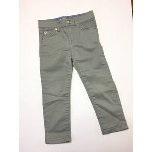 7 For All Mankind Gray Skinny Denim Jeans 3T